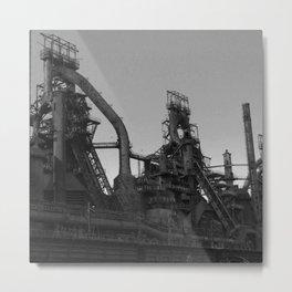 Bethlehem Steel Plant Photo 7 in black and white Metal Print