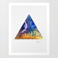 Space Triangle Art Print