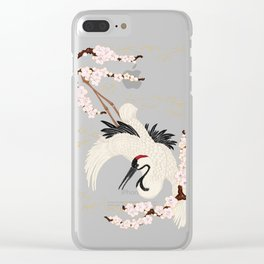 Japanese Crane Clear iPhone Case