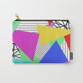 Bits And Pieces - Retro, random, abstract pattern Carry-All Pouch