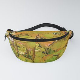 Colored Nature Print Fanny Pack