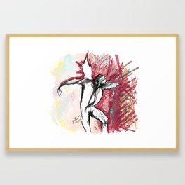 A Demon Dances Framed Art Print