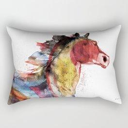 Horse (Running Happiness Detail) Rectangular Pillow