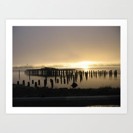 Sunrise over the Coos Bay Docks Art Print