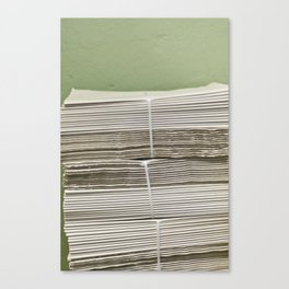 Papers Canvas Print