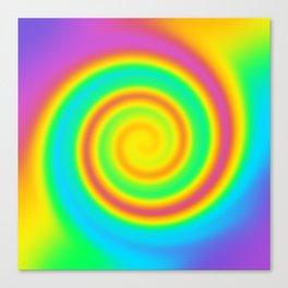 Magical Swirly Rainbow Design! Canvas Print