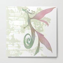 Faerie Dragon Silhouette Metal Print