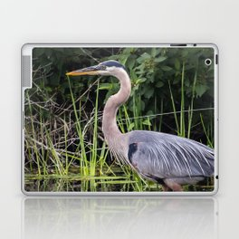 Heron pose in the channel Laptop & iPad Skin