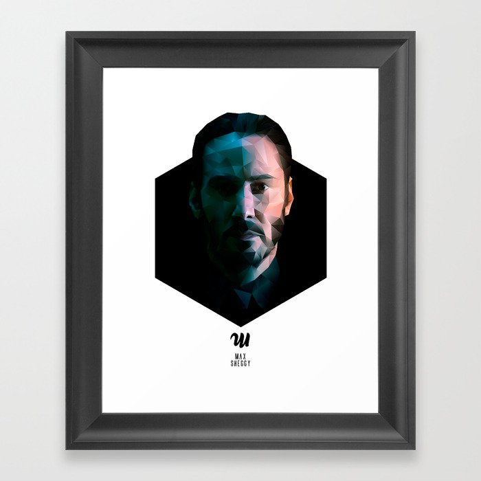 Low Poly Keanu Reeves Framed Art Print By Maxsheggy Society6