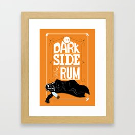 come to the dark side we have parties Framed Art Print