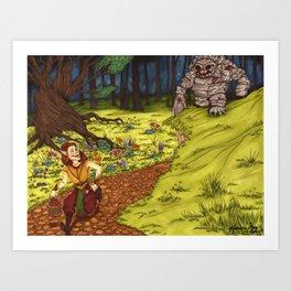 Mischievous Elf Art Print