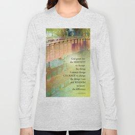 Serenity Prayer Long Bridge Long Sleeve T-shirt