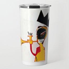 Trumpet Homage to Basquiat Travel Mug