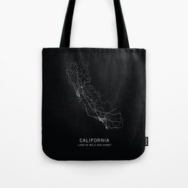 California State Road Map Tote Bag
