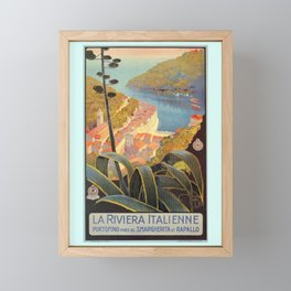 Portofino Italian Riviera Travel Framed Mini Art Print