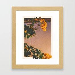 Flores Amarillas Framed Art Print