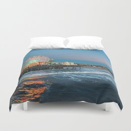 Wheel of Fortune - Santa Monica, California Duvet Cover