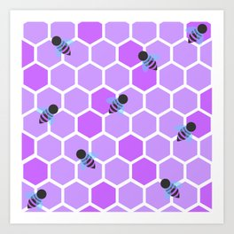 Oh Honey in Purple Art Print