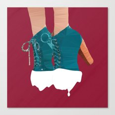 Vanila Coated Boots Canvas Print