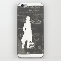 notebook iPhone & iPod Skins featuring Sherlock's notebook by Lena Lang