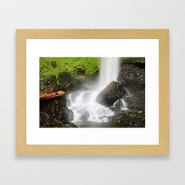 Pacific Northwest Adventure - Long Exposure Waterfall | Silver Falls Framed Art Print