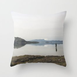 Fly Fishing Iceland Throw Pillow