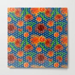 Cute Austra;ian Native Pincushion Flower Print Metal Print