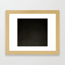 Black & Gold Tiles Framed Art Print