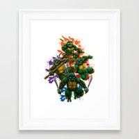 teenage mutant ninja turtles Framed Art Prints featuring Teenage Mutant Ninja Turtles by Magik Tees