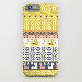 Fair Isle Christmas Alpaca Pattern iPhone Case