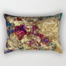 Golden Oil Slick Quartz Rectangular Pillow