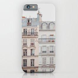 Bonjour Montmartre - Paris Architecture, Travel Photography iPhone Case