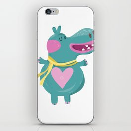 Cute Baby Hippos iPhone Skin