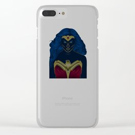Wonder . Woman Classic Clear iPhone Case