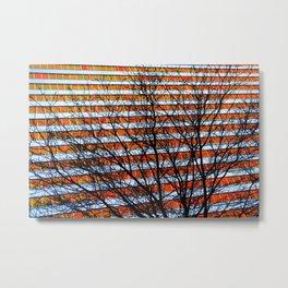 Stripe Resistance Metal Print