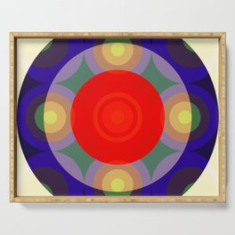 Olloudius - Colorful Abstract Art Serving Tray