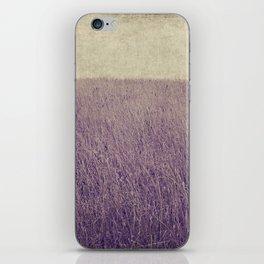 Purple field iPhone Skin