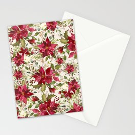 POINSETTIA - FLOWER OF THE HOLY NIGHT Stationery Cards