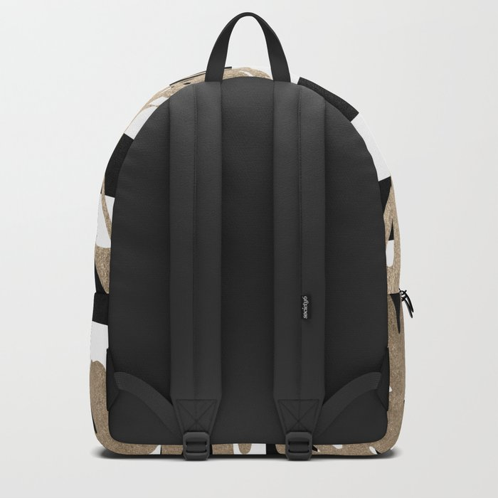 Simply Tropical Palm Leaves on Stripes Backpack