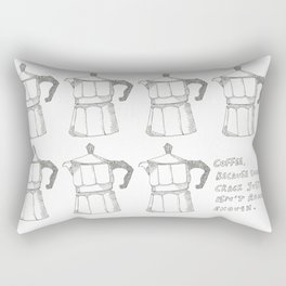 Coffee v. crack Rectangular Pillow