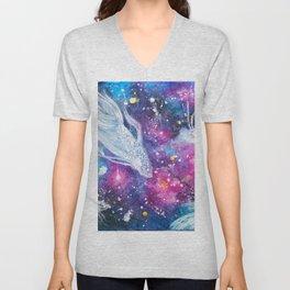 Galaxy Bettas Swimming Through Space Unisex V-Neck