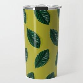 Celery & Phthalo Arabica Pattern Travel Mug
