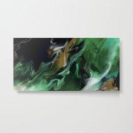 Trimeresurus Stejnegeri - green fluid abstract Resin Art Metal Print