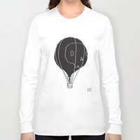 hot air balloon Long Sleeve T-shirts featuring Hot Air Balloon Skull by Teller & K (former Fupete)