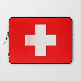 Swiss National Flag Laptop Sleeve