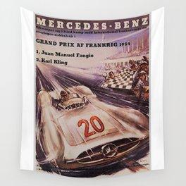 1953 Grand Prix Racing at Frankrig Advertisement Portrait Wall Tapestry