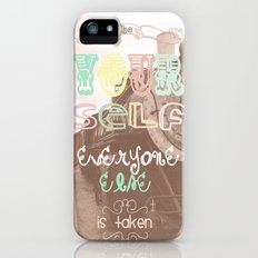 be yourself iPhone (5, 5s) Slim Case