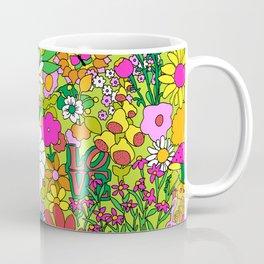 60's Groovy Garden in Lime Green Coffee Mug