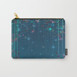 Magic fairy abstract shiny background with stars Carry-All Pouch