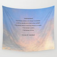 friendship Wall Tapestries featuring Friendship by Connie Campbell